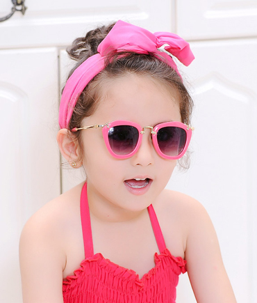韩国防紫外线彩色宝宝太阳镜