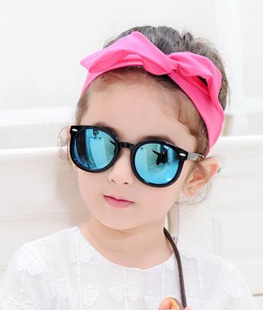 大圆框男童女童墨镜时尚