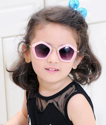 儿童太阳镜多边形时尚墨镜