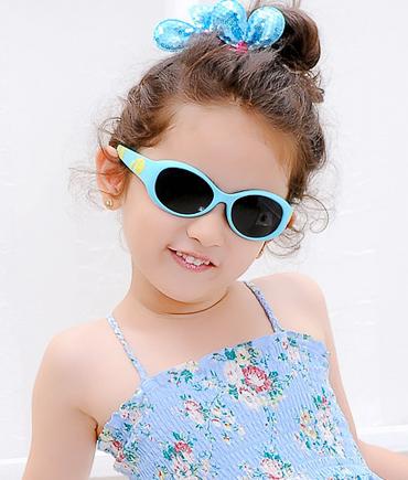 柔软胶弹力框儿童太阳镜