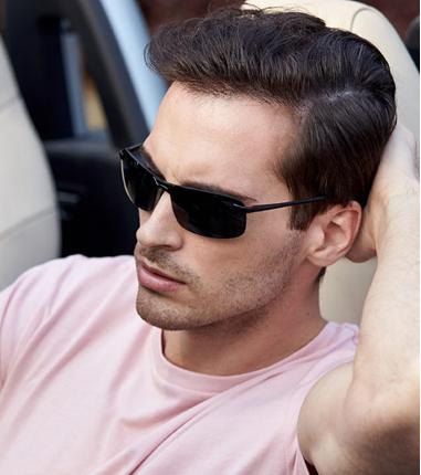 半框太阳镜男士墨镜偏光增晰钓鱼专用眼镜