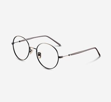 新款圆形眼镜框女潮细框金属眼睛架