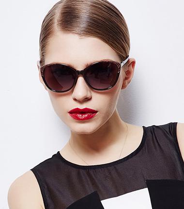 夏季太阳镜修脸偏光墨镜皮纹装饰时尚款